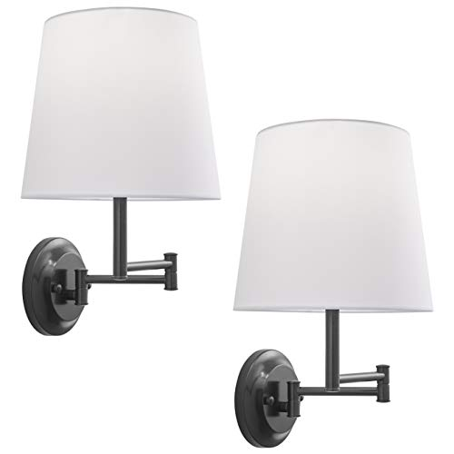 Lemanca Swing Arm Wall Lamp | Bronze Wall Sconces Set of Two LL-WL708-6DB-2PACK