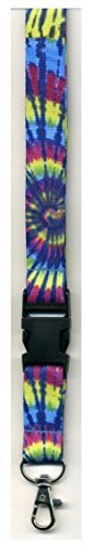 - Dark Tye Dye -Neck Lanyard Id-key Holder