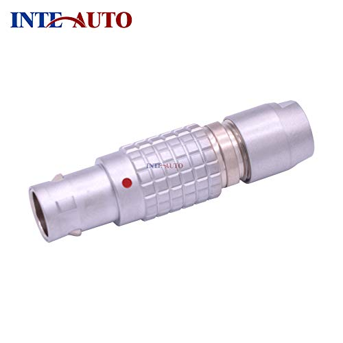 Davitu LEMOs connector,2,3,4,5,6,7,9 pins,M9 metal brass push pull self-locking plug, male electrical connector, without strain relief - (Connector Type: Line Connector, Pins: 2P) ()