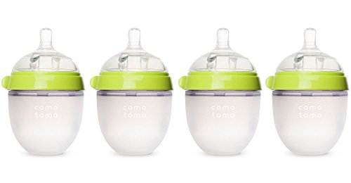 Comotomo Four Pack Bottle 150ml/5oz., Green (Comotomo Baby Bottles compare prices)
