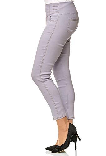 D2490 Corsetti Grigio Alta Jeans Noname Vita Dimensione Plus Treggings Donne Tubo Pantaloni wCppv6qxX