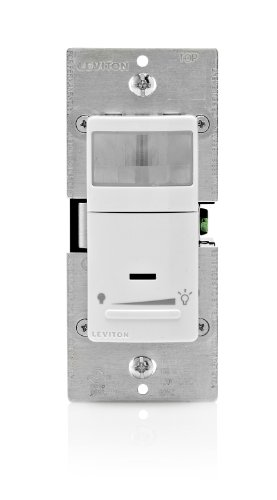 (Leviton IPSD6-1LZ Decora Motion Sensor In-Wall Dimmer, Auto-On, 2.5A, Single Pole or 3-Way, White/Ivory/Light Almond)