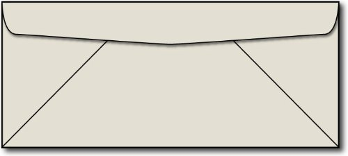 Gray #10 Business Size Envelopes 100 Envelopes