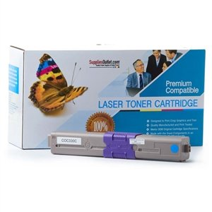 SuppliesOutlet Okidata 44469703 (Type C17) Compatible Toner Cartridge - Cyan - [1 Pack] For C330DN, C331DN, C530DN, C531DN, MC361, MC361 Color MFP, MC361DN, MC362W, MC561, MC561 Color MFP, MC561DN, MC562W, MC890, MC950, MC950 MFP