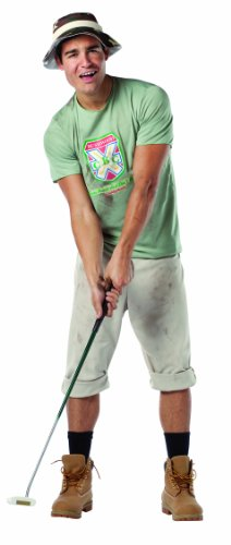 Rasta Imposta Caddyshack Carl Spackler Costume, Multi-Colored, One Size -