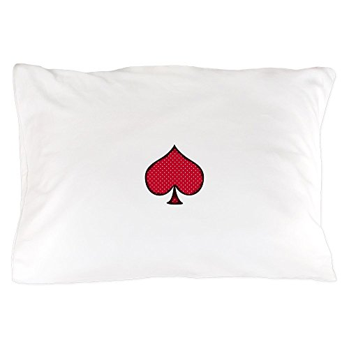 (CafePress Polka Dot Spade Standard Size Pillow Case, 20