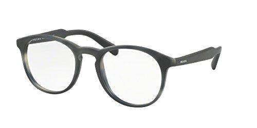 93bee87c1e722 Prada PR19SV Eyeglass Frames USD1O1-48 - Matte Striped Grey PR19SV-USD1O1-48