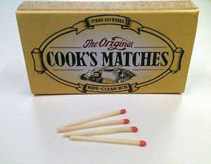 the original cooks matches traditional wipe clean box extra long
