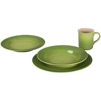 Le Creuset Stoneware 4-Piece Dinnerware Set Palm  sc 1 st  Amazon.com & Amazon.com: Le Creuset Stoneware 4-Piece Dinnerware Set Palm ...