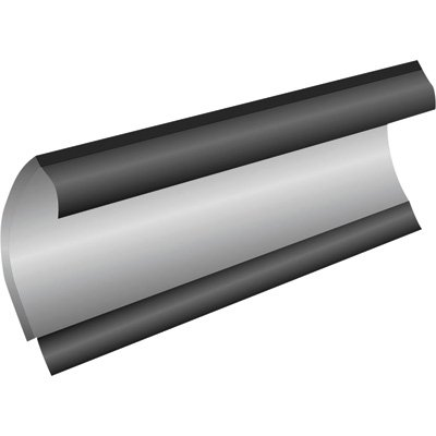 S.A.M. Universal Contoured Thermoplastic Deflector for Plows – 108in.L x 8in.H, Model# 1309035