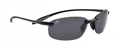 Serengeti Nuvola Polar Sunglasses,Shiny Black with CPG - Nuvola Sunglasses Serengeti