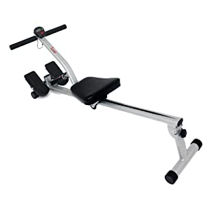 Sunny Health & Fitness SF RW1205 12 Adjustable Resistance Rowing Machine Rower w/ Digital Monitor