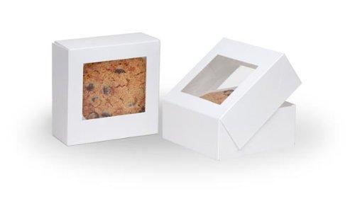 Six Corner Auto Bottom Candy Box - White - Case of 250