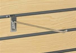 12'' Chrome Slat Wall Hooks (Box of 96)