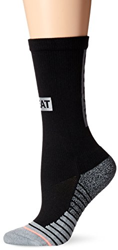 Stance Women's Support Athletic Crew Sock, Black, Small by Stance