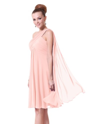 Ever Pretty Womens Sleeveless Short Chiffon Bridesmaids Dress 6 US Pink
