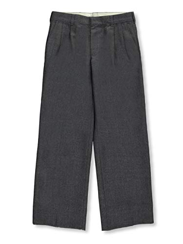 RIFLE KAYNEE Big Boys' Husky Pleated Pants - Gray, 27
