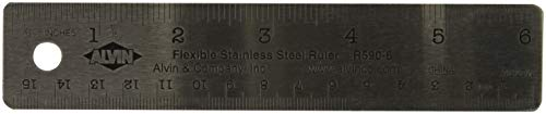 - Alvin R590-6 6 inch Flexible Stainless Steel Ruler
