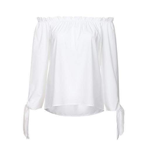 Shirt Longues Manches Innerternet Blanc DContract Tunique Blouse Bateau T Top Autumn Col Paules Femme Et DNudEs qw10q