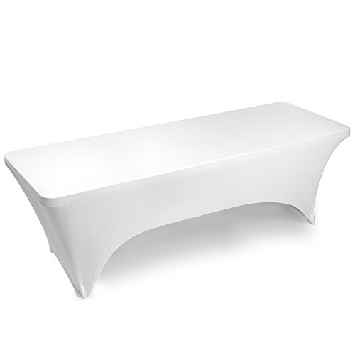 Lann's Linens Fitted Rectangular Spandex Tablecloth - 8 ft.