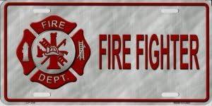 LP 2823 334 Firefighter License Plate