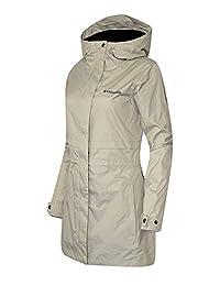 Columbia Womens Shine Struck II Waterproof Rain Mid Hooded Jacket 2017 (S, Beige)