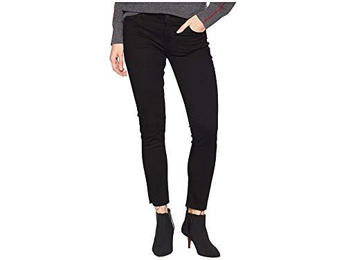 (Hudson Jeans Women's Tally Midrise Skinny Crop 5 Pocket Jean, Black/raw Hem 28 )