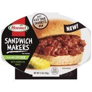 Hormel Compleats Microwaveable Sandwich Makers Seasoned Pork With Barbecue Sauce  Pack Of 6