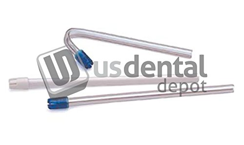 DEFEND- Saliva Ejector Clear w/ Blue Tip Bag 100 - Wire rein 111362 Us Dental Depot
