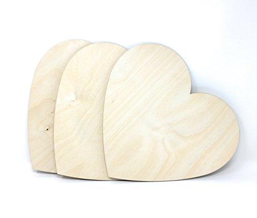 Gocutouts Wooden Hearts 12