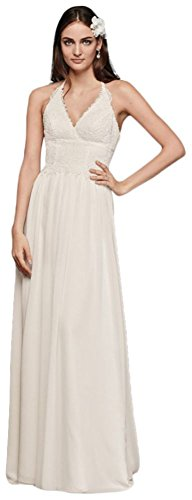 Ivory Bridal Wedding Lace Style Dress WG3819 David's Halter 0CzSx4qC