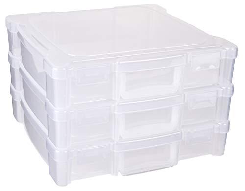 Artbin Essentials Storage Box With Handle 12 By 12-inch Art Craft Storage