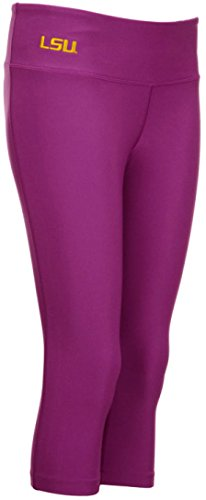 Nike Womens LSU Louisiana State Tigers Dri-Fit Pro Capri Tights Leggings Pants (Violet-Purple, Large)