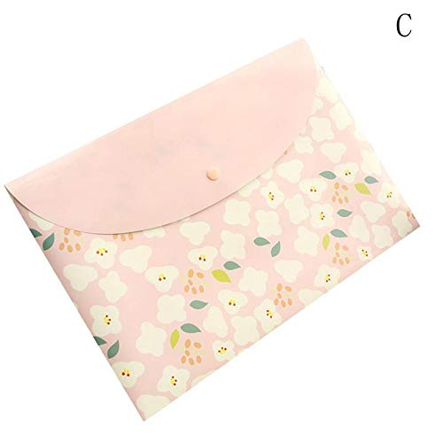Amazon.com: GOP Store 1pcs A4 Paper Holder Bag for Documents Portafolio School Supplies Floral Folder Bag Korean Stationery Office File Organizer: Kitchen & ...