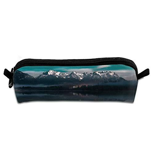 Kui Ju Pencil Bag Pen Case Landscape Picture Cosmetic Pouch Students Stationery Bag Zipper Organizer -