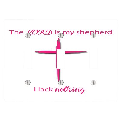The Lord Is My Shepherd 3 Toggle Electrical Switch Wall Plate (6.56 x 4.69in) by EandM