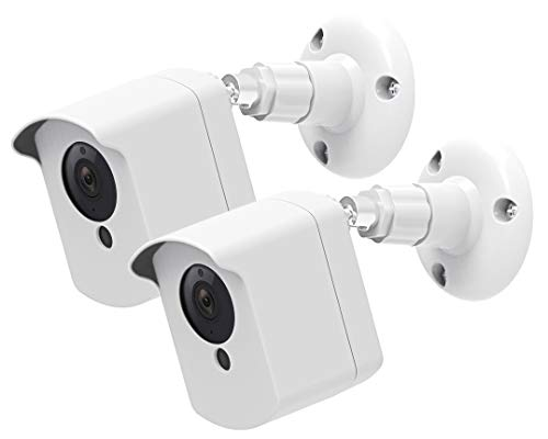 Wyze Camera Wall Mount Bracket, Weather Proof Cover with Security Wall Mount for Wyze Cam V2 V1 and Ismart Spot Camera Indoor Outdoor Use, White (2 Pack)