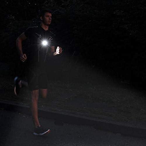 Recargable USB LED Noche Correr Linterna L/ámpara con Desmontable Bardella para Corredores Deportes Al Aire Libre Pantalones Negro Pecho Correr Luz Camping Senderismo free size