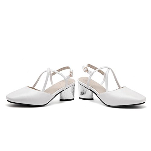 RAZAMAZA Slingback Cerrado Moda White Zapatos Mujer zZrzwqY