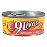 9Lives Prime Entre with Real Chicken, Lamb and Rice Canned Cat Food (24/5.5-oz cans), My Pet Supplies