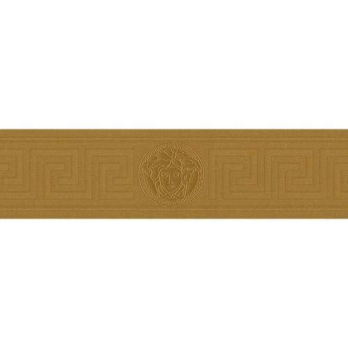 935262 - Versace Medusa Greek Key Gold AS Creation Wallpaper Border