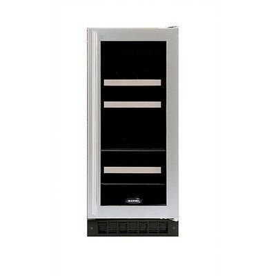 Luxury 5 Bottle Dual Zone Thermoelectric Built-in Wine Refrigerator Finish: Black, Hinge Location: - Auto Defrost Left Hinge