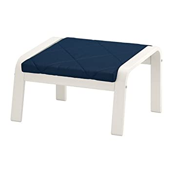 Amazon.com: IKEA Otomano, color blanco, edum Azul Oscuro ...