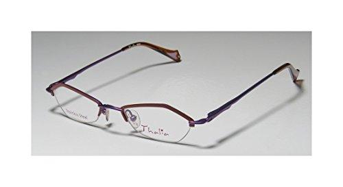 Thalia Beso Womens/Ladies Designer Half-rim Spring Hinges Eyeglasses/Eyewear (44-18-130, Brown / Purple)