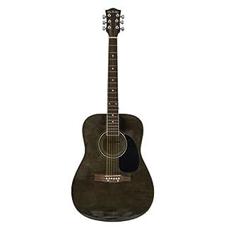 Glen Burton GA101BCO-BK Dreadnaught Acoustic Guitar with Accessories, Black