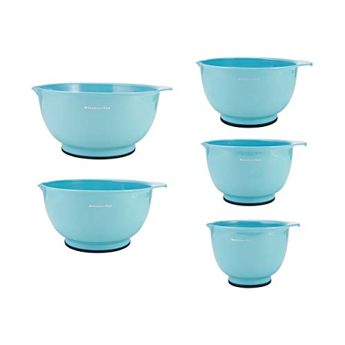KitchenAid Mixing Bowls, Set of 5, Aqua Sky - KC178OSAQA (Ceramic Bowl Turquoise)