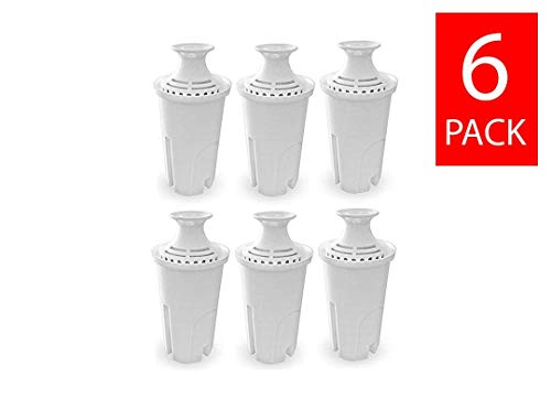 GoldTone Brand Charcoal Water Filters fits Brita and Mavea Water Pitchers. Replaces your Brita Charcoal Water Filter and Replacement Brita Water Filter [6 PACK]