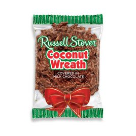 Russell Stover .875 oz. Coconut Wreath, case of 36