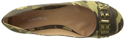 CL By Laundry  General, Ballerines pour femme Vert Camouflage 38.5