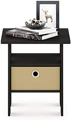 home, kitchen, furniture, living room furniture, tables,  end tables 9 discount Furinno End Table Bedroom Night Stand w/Bin deals